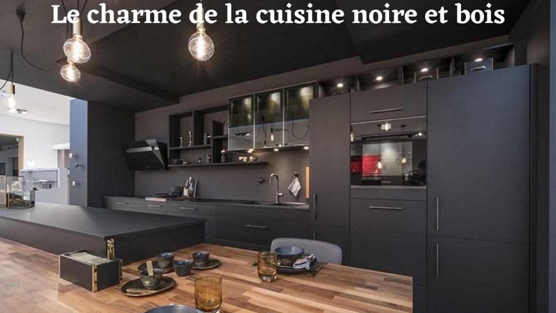 La superbe tendance de la cuisine noire